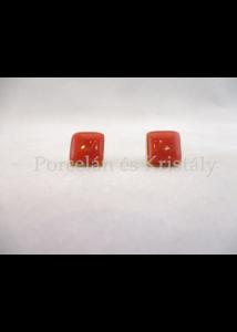 10648/8421 Fülbevaló piros, 1,5x1,5 cm