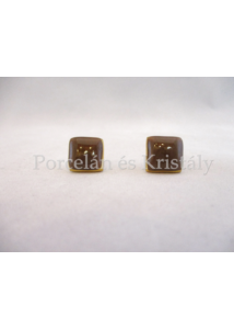 10648/8422  Fülbevaló barna, 1,5x1,5 cm