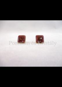 10648/8426  Fülbevaló bordó, 1,5x1,5 cm