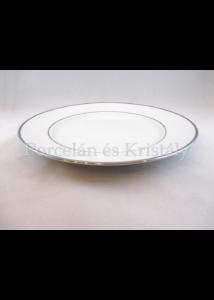 9100/3/3384 Nagy lapostányér fehér-platina, 3x30,7 cm