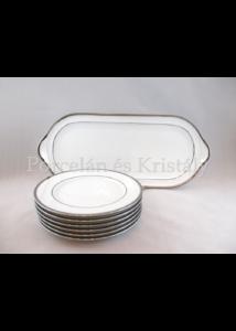 9100/3384 Szendvicskészlet 7 részes fehér-platina