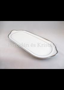 9100/3384 Szendvicstál fehér-platina, 3,5x38,5x16,5 cm