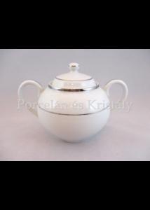 9100/3384 Tea cukordoboz fedővel fehér-platina, 500 ml
