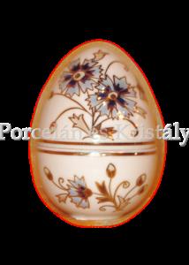10369/1/059 Álló tojás bonbonier kicsi búzavirágos, 7x5 cm