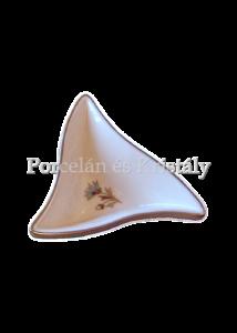 193/059 Háromszög kínálótál búzavirágos, 3,3x10x8,7 cm