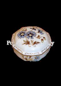 9142/059 Bonbonier búzavirágos, 4,5x8,5x8,5 cm
