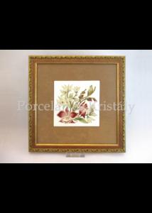 10513/3/8632 Falikép sárga orchideás, 15x15 cm
