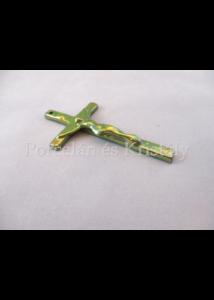 10175 Kiskereszt zöld eosin, 10x5,5x1 cm
