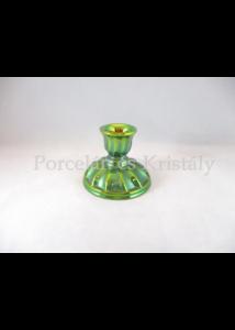 10208/1 Csavart gyertyatartó zöld eosin, 8,5x11 cm