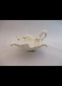 10522 Szőlőlevél fehér eosin, 7,5x15,5x12 cm