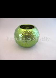 7256/A Váza zöld eosin, 7,5x10 cm