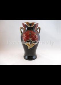 7509 Pipacsos váza többszínű eosin, 24x13x11 cm