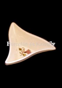 193/026 Háromszög kínálótál pillangós, 3,3x10x8,7 cm
