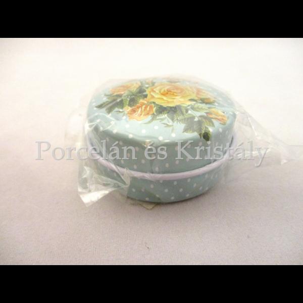 W.13173 Gyógyszeres kerek fémdoboz rózsás, 2,7x,4,3 cm