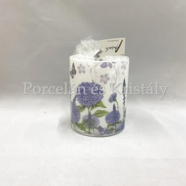 AMB.19109310 Purple Wildflowers átvilágítós gyertya 12x10cm
