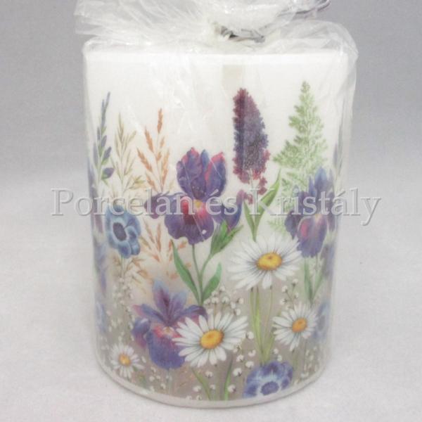 AMB.19113235 Mezei virágok átvilágítós gyertya 12x10 cm