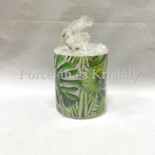 AMB.19210940 Tropical Leaves átvilágítós gyertya 9x7,5cm