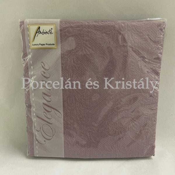 AMB.12507905 Elegance Pale Lilac papírszalvéta 25x25cm, 15db-os