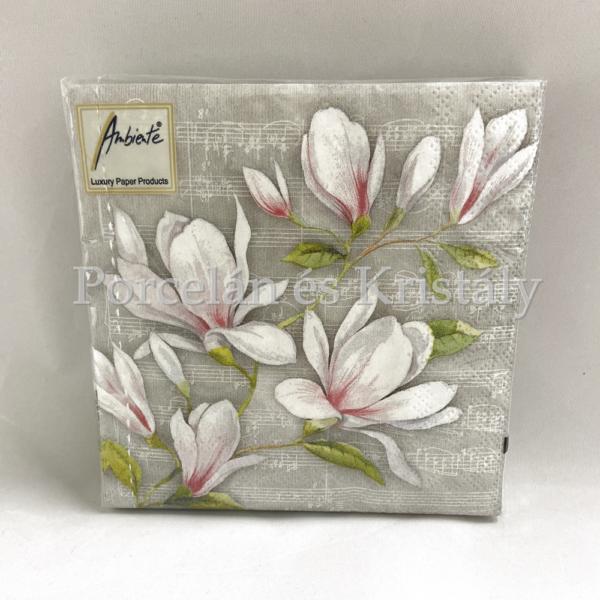 AMB.12509890 Musical Magnolia papírszalvéta 25x25cm, 20db-os