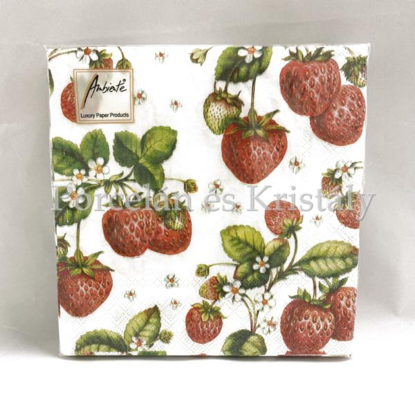 AMB.13306770 Stawberry Plant papírszalvéta 33x33cm, 20db-os