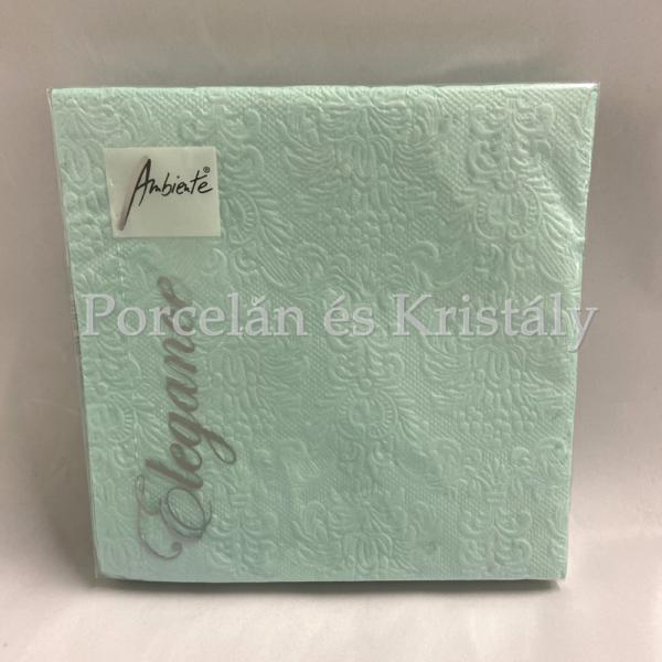 AMB.13307032 Elegance Aqua dombornyomott papírszalvéta 33x33cm, 15db-os