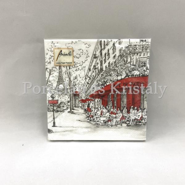 AMB.13308350 Joli Paris papírszalvéta 33x33cm, 20db-os