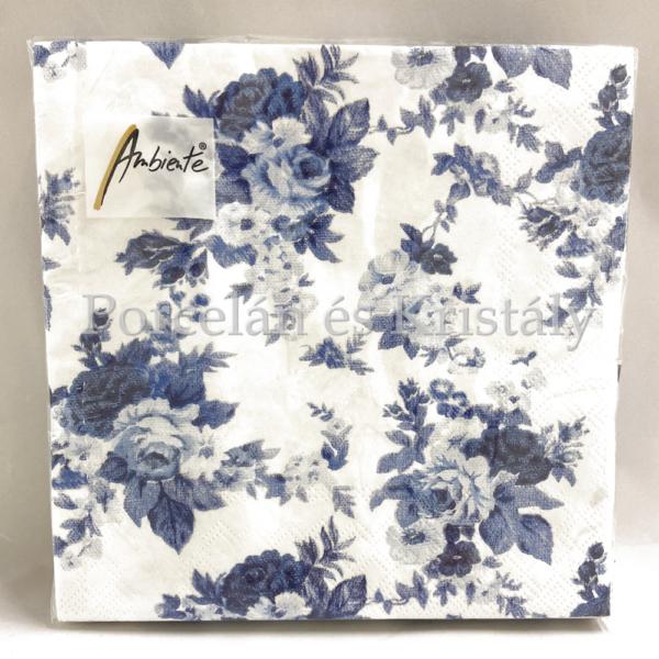 AMB.13308456 Antoinette blue papírszalvéta 33x33cm, 20db-os