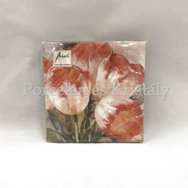 AMB.13309000 Tulips Dream papírszalvéta 33x33cm, 20db-os