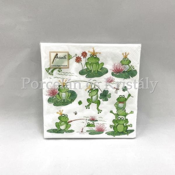 AMB.13309050 Funny Frogs papírszalvéta 33x33cm, 20db-os