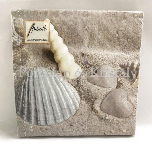 AMB.13310140 Hearts In Sand papírszalvéta 33x33cm, 20db-os
