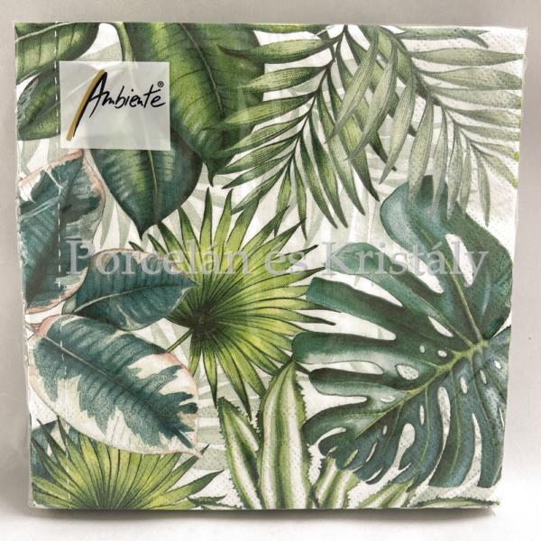 AMB.13310940 Tropical Leaves papírszalvéta 33x33cm, 20db-os