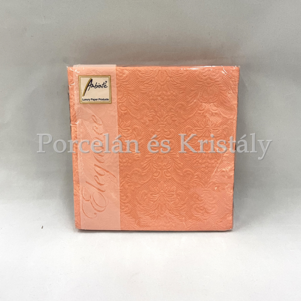 AMB.13311105 Elegance peach papírszalvéta 33x33cm, 15db-os