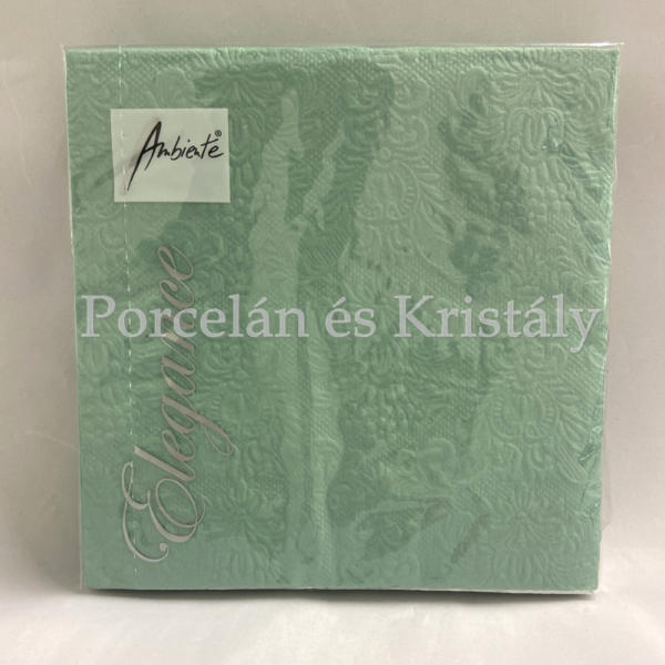 AMB.13311110 Elegance pale aqua dombornyomott papírszalvéta 33x33cm, 15db-os