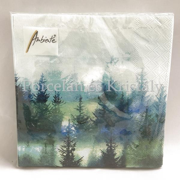 AMB.13311880 Forest Fog papírszalvéta 33x33cm, 20db-os