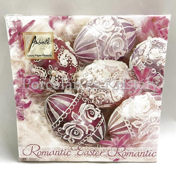 AMB.23301665 Romantic Easter papírszalvéta 33x33cm, 20db-os