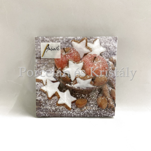 AMB.32511955 Apples & Cookies karácsonyi papírszalvéta 25x25cm, 20db-os