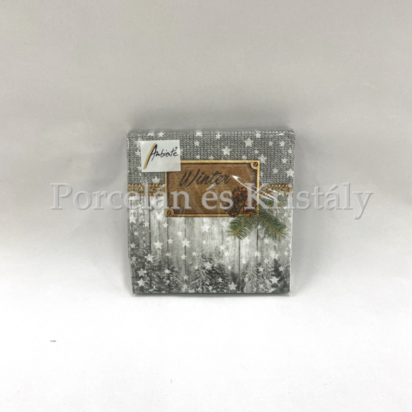 AMB.32512105 Winter karácsonyi papírszalvéta 25x25cm, 20db-os