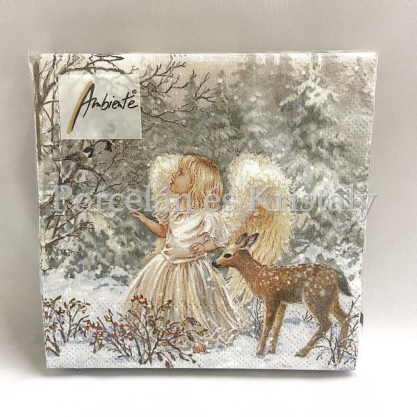 AMB.32513470 Winter Angel karácsonyi papírszalvéta 25x25cm, 20db-os