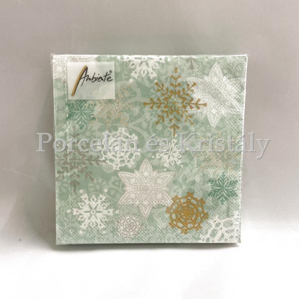 AMB.32513740 Delicate Stamps Green karácsonyi papírszalvéta 25x25cm, 20db-os