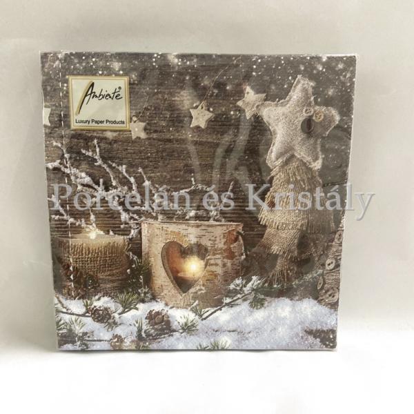 AMB.33305005 Natural X-Mas karácsonyi papírszalvéta 33x33cm, 20db-os