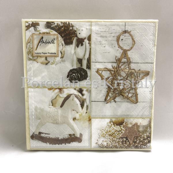 AMB.33310660 Decorating karácsonyi papírszalvéta 33x33cm, 20db-os