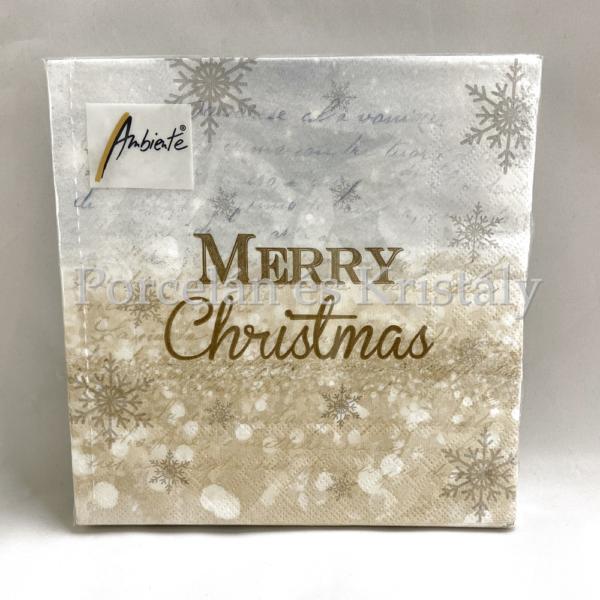 AMB.33311935 X-Mas Atmosphere karácsonyi papírszalvéta 33x33cm, 20db-os