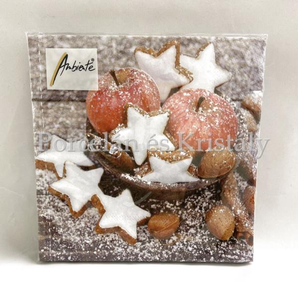 AMB.33311955 Apples & Cookies karácsonyi papírszalvéta 33x33cm, 20db-os