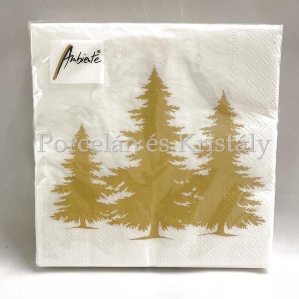 AMB.33312306 Tree Silhouette Gold karácsonyi papírszalvéta 33x33cm, 20db-os
