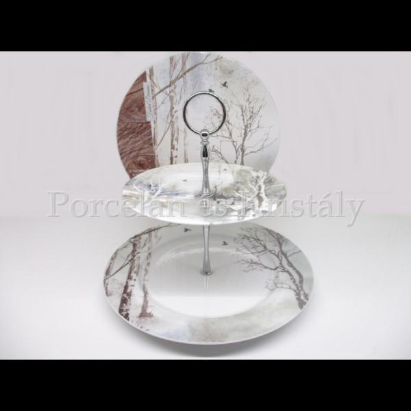 R2S.926DRAM Faded Dreams 2 szintes porcelán süteményes kínáló, díszdobozban