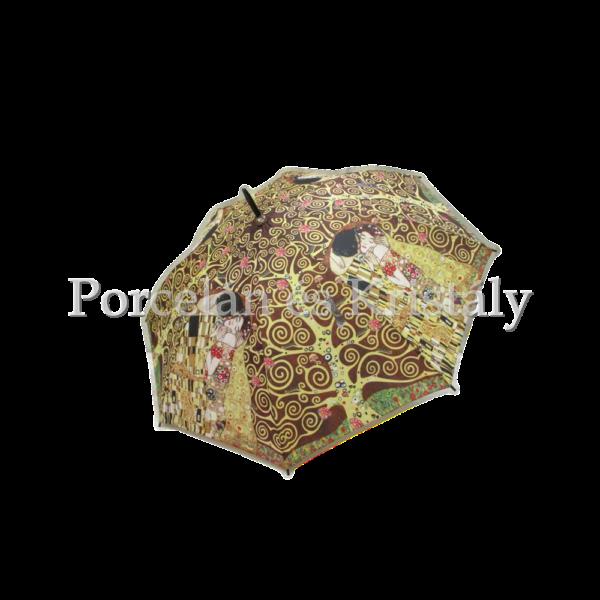 H.C.021-6507 Esernyő Klimt: Csók-Életfa, barna 100 cm