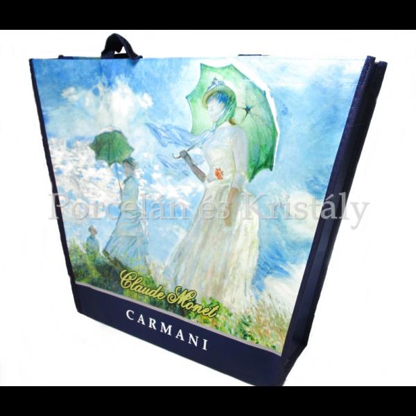 H.C.021-9003 Kétoldalas válltaska Monet: Nő esernyővel és Japán híd, 38x46x11 cm