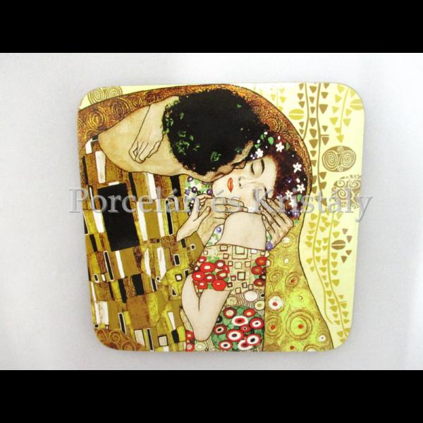 H.C.532-1201 Parafa poháralátét Klimt: Csók 10x10 cm