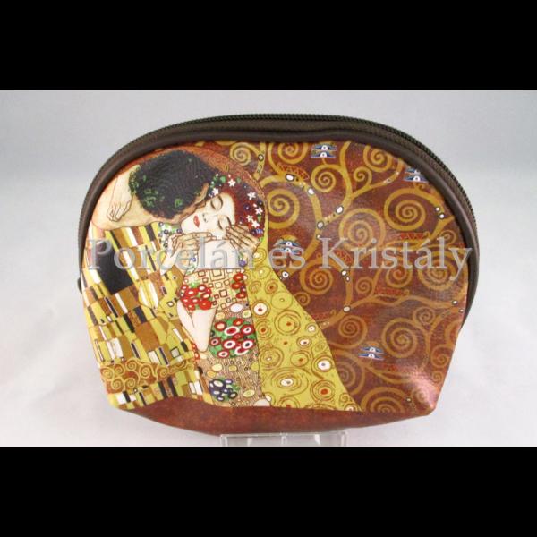 H.C.532-9084 Neszesszer Klimt: Csók, 12,5x17,5x5 cm