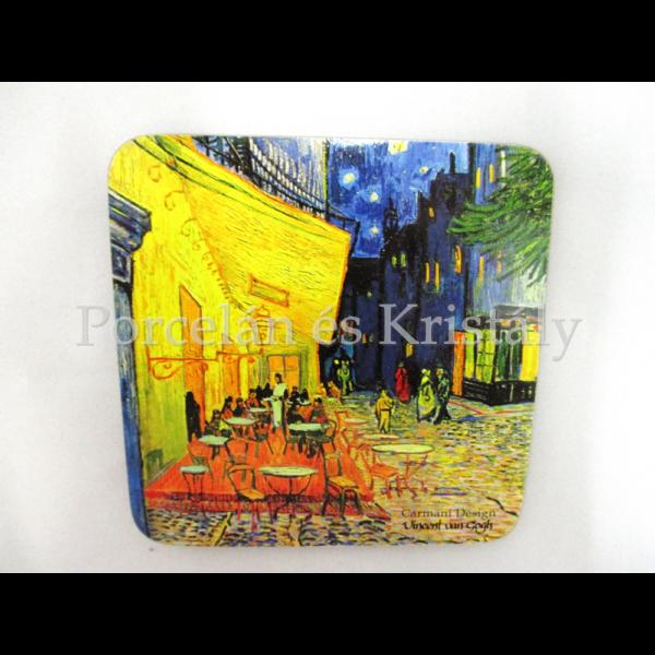 H.C.830-0002 Parafa poháralátét Van Gogh: Kávéház éjjel, 10x10 cm